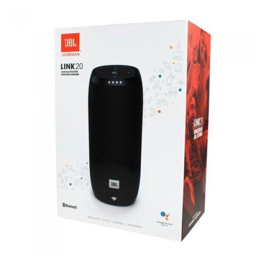 New JBL LINK 20 Smart Portable Bluetooth Speaker Google Assistant - Black