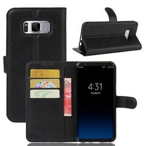 Cartera-De-Bolsillo-PREMIUM-negro-para-Samsung-Galaxy-S8-Plus-g955f-FUNDA