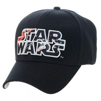 Official Star Wars X Wing Fighter Logo Black Flex Cap Hat