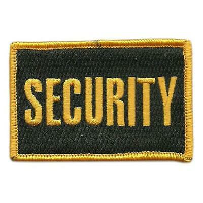 VELCRO® BRAND Hook Fastener Compatible Patch Security Black Yellow 3x2