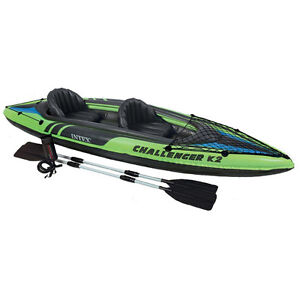 New-Intex-Two-Person-Challenger-K2-Inflatable-Kayak-Kit-with-Oars-amp-Pump-68306EP