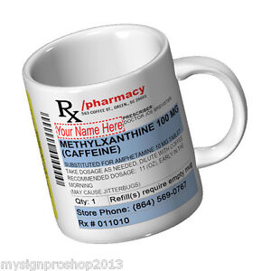 Personalized Prescription Coffee Mug [name] (Really Funny Mug) 11 oz Ceramic Mug