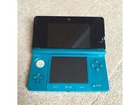 Nintendo 3DS Aqua Blue (with rare firmware 9.2)