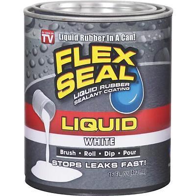 Flex Seal 1 Pt White Liquid Rubber Watertight Coating Sealant Lfswhtr16