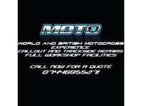 Motocross enduro evo quad pit bike mechanic repair mobile dirtbike fix