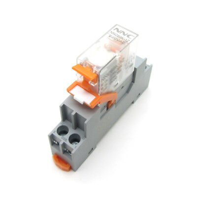 Dc 24v Ac220v Coil Power Relay 12a Spdt No Nc 5 Pins Anti-loose Lock Socket