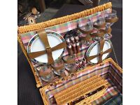 Wicker Picnic Hamper - with six complete place settings