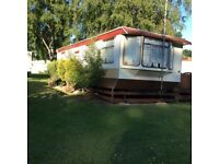 Fully equipped caravans on a nice holiday caravan park