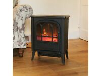 1800W Cast Iron Effect Free Standing ELECTRIC STOVE / FIREPLACE HEATER (Brand New )