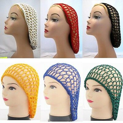 Crochet Hair Net : Women Rayon Snood Hair Net Crochet Hairnet Knit Hat Hairnet Hairband ...