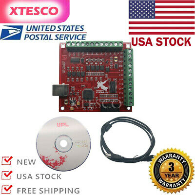 Uscnc Usb Mach3 100khz Breakout Board 4axis Interface Driver Motion Controller