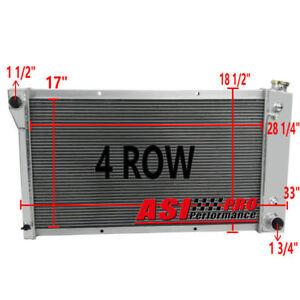4 ROW Aluminum Radiator For Chevy GMC Truck,Blazer 28