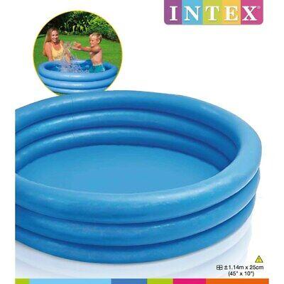 INTEX Crystal Blue Inflatable Outdoor Summer Swimming Kids Play Paddling Pool