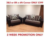 *BRAND NEW* DQF Shandon Promo Price 3&2 OR Corner Fabric set ONLY £399