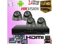 CCTV Security Camera System Full HD 1080p includes Fitting and Remote Viewing