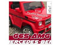 Mercedes G-Wagon G65, Lights, Music , Parental Remote & Self Drive Ride-On