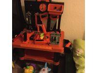 Childrens Kids Play Toy Workbench Tools Kit Workshop Playset
