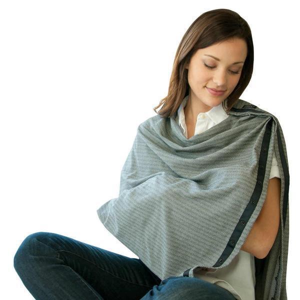 NWT Nuroo Nursing Cover Scarf Breastfeeding Hooter Hider Covers Herringbone  - $24.99