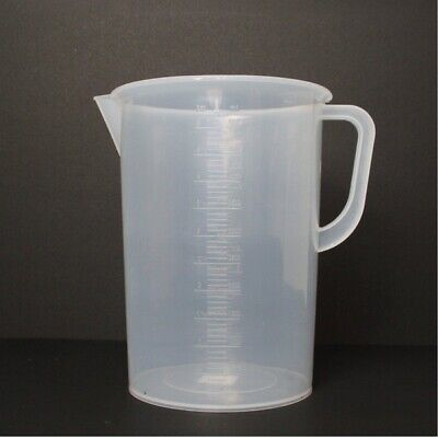 5-liter5000ml Measuring Cup Beaker W Handle Spout 250ml Graduations For Labs
