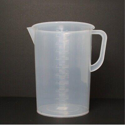 5-liter5000ml Polypropylene Beaker W Handle Spout 250ml Graduations For Labs