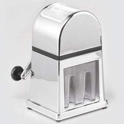 SIENAHome Eiscrusher verchromt rostfreies Messer Eiszerkleinerer Eis zerkleinern