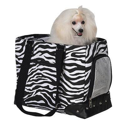 Dog/Cat/Pet/Carrier/Purse/Tote/Bag - Z & Z - Zebra Print Carrier - Small - NEW
