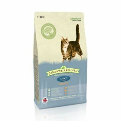 James Wellbeloved Turkey and Rice Light Dry Cat Food 300g Nutritious Health Diet