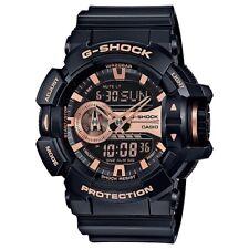 Casio G-Shock Black / Rose Gold Analogue/Digital Mens Watch GA400GB-1A4 GA-400GB