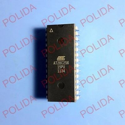 10pcs Eeprom Ic Atmel Dip-28 At28c256-15pu