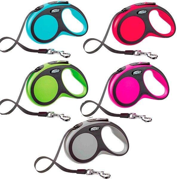 Flexi Retractable Dog / Puppy Lead Classic Neon Comfort Giant Cord / Tape Leash