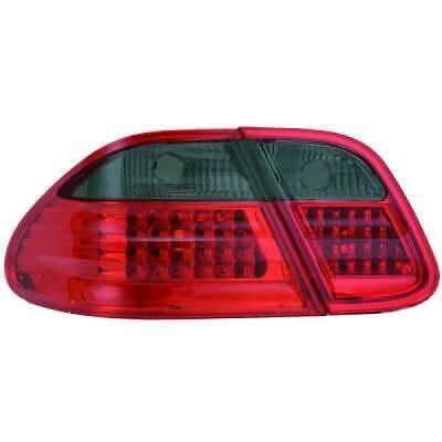 Rückleuchten Set für Mercedes CLK W208 97-02 LED Klarglas/Rot-Schwarz