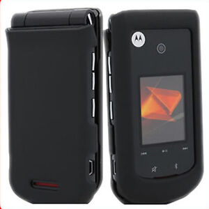 Black Rubberized Faceplate Case for Motorola Bali WX415