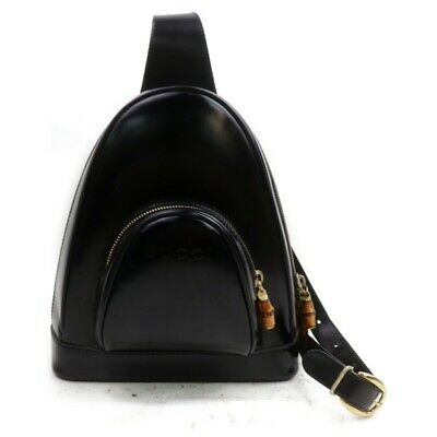 Gucci Back Pack  Black Enamel 835379