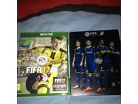 Fifa 17 for xbox one immaculate condition with special edition case and two day x box live trial