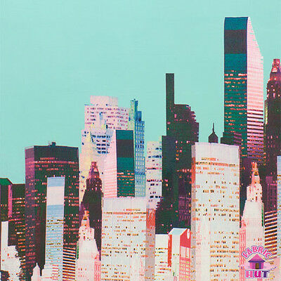 Big City Mint   Pink Buildings By Alexander Fabric By The Yard