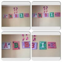 Kids name wall decoration