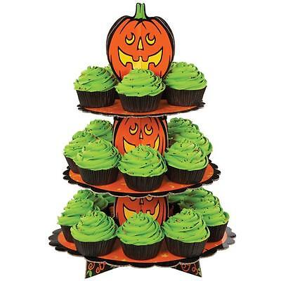 Wilton Pumpkin Jack O Lantern Cupcake Treat Stand 1512-1679 Orange Halloween ()