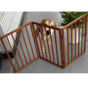 3 Panel Folding Dog Gate Safety Space Divider Portable In/Outdoor Freestanding
