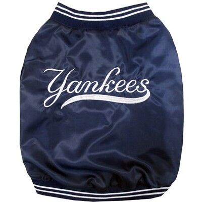 - New York Yankees MLB Pets First Pet Dog Dugout Jacket Navy Sizes S-L