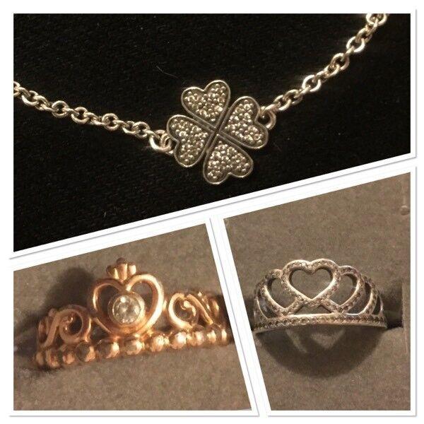 Pandora Rings and Bracelet