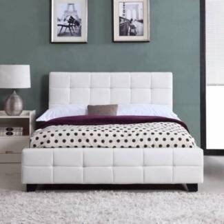 QUEEN SIZE BED BRAVO BED FRAME WHITE NEW
