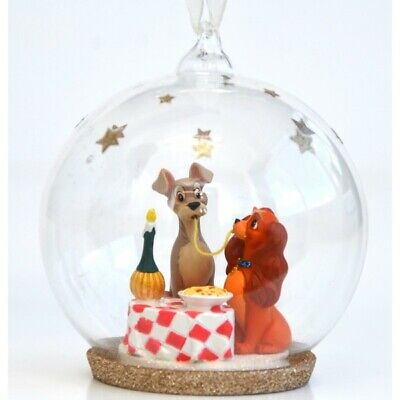 Disney Lady and the Tramp - Bella Notte Christmas bauble Disneyland Paris N:1011