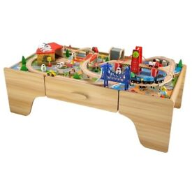 Wooden Train/Car Table with Storage Drawer