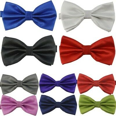 Adjustable Mens Bowtie Necktie Clip-On Wedding Party Bow Tie Shirt Accessories