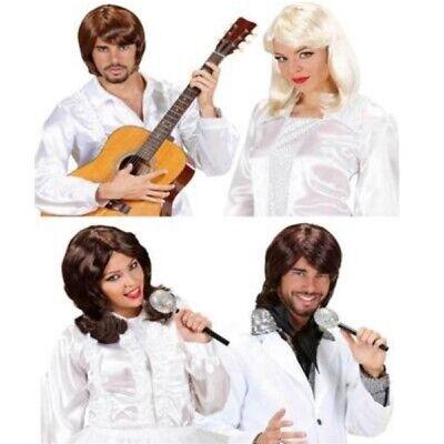 Pop Star Damen und Herren Perücke 70er 80er Disko Waterloo Schweden Pop (Popstar Kostüm)