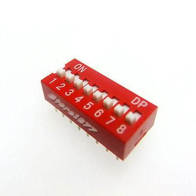 10pcs 8 Position Dip Switch