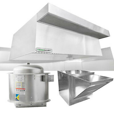 Hoodmart 6x48 Type 1 Commerical Kitchen Hood System W Psp Makeup Air