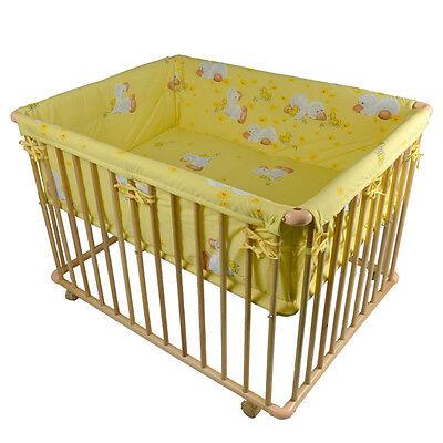 BABY LAUFGITTER 75x100 LAUFSTALL + BABYLAUFSTALL BABYLAUFGITTER BABY + Einlage