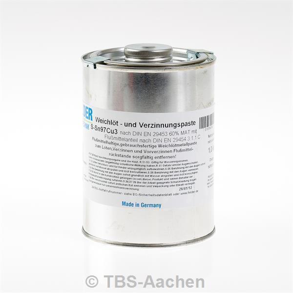 Verzinnungspaste 1 kg bleifrei SN97Cu3
