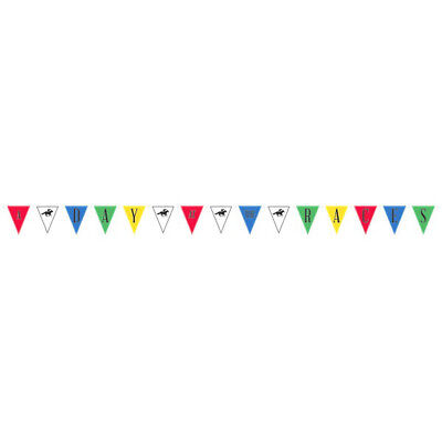 KENTUCKY DERBY JUMBO PENNANT BANNER ~ Birthday Party Supplies Hanging Decoration - Kentucky Derby Party Decorations
